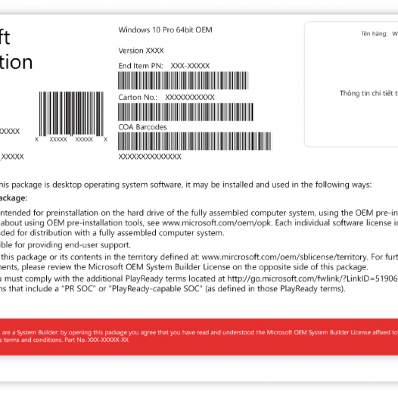 Windows 10 Pro 64-bit DSP OEI DVD