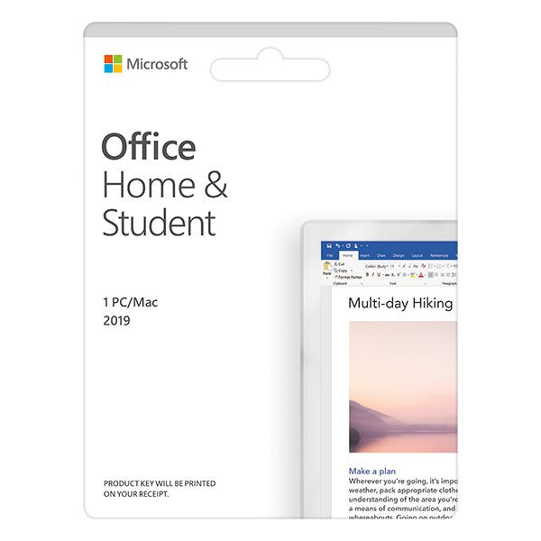 Phần mềm Microsoft Office Home and Student 2019 English APAC EM Medialess P6 (79G-05143)