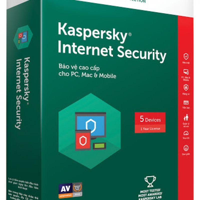Phần mềm diệt virut Kaspersky Internet security 5 PC