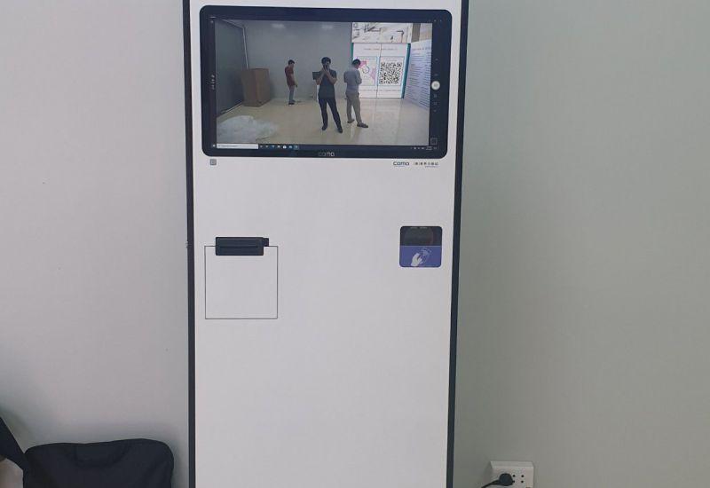 Bệnh viện đa khoa Huyện Mỹ Đức sử dụng máy KIOSK COMD