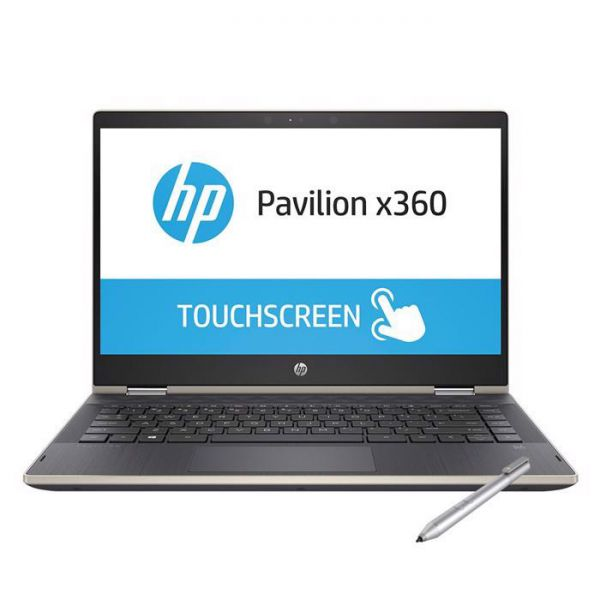 Laptop HP Pavilion x360 14-dh0103TU 6ZF24PA (i3-8145U/4Gb/1Tb HDD/14 TouchScreen/VGA ON/Win10/Gold/Pen)